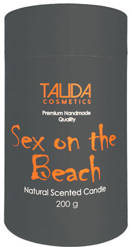 "Aromakerze ""Cocktail"" Sex on the Beach, 75x125 mm, 200 g"